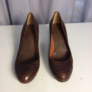 Banana Republic Leather Wedges Size 9.5